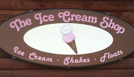 ice cream shop sign