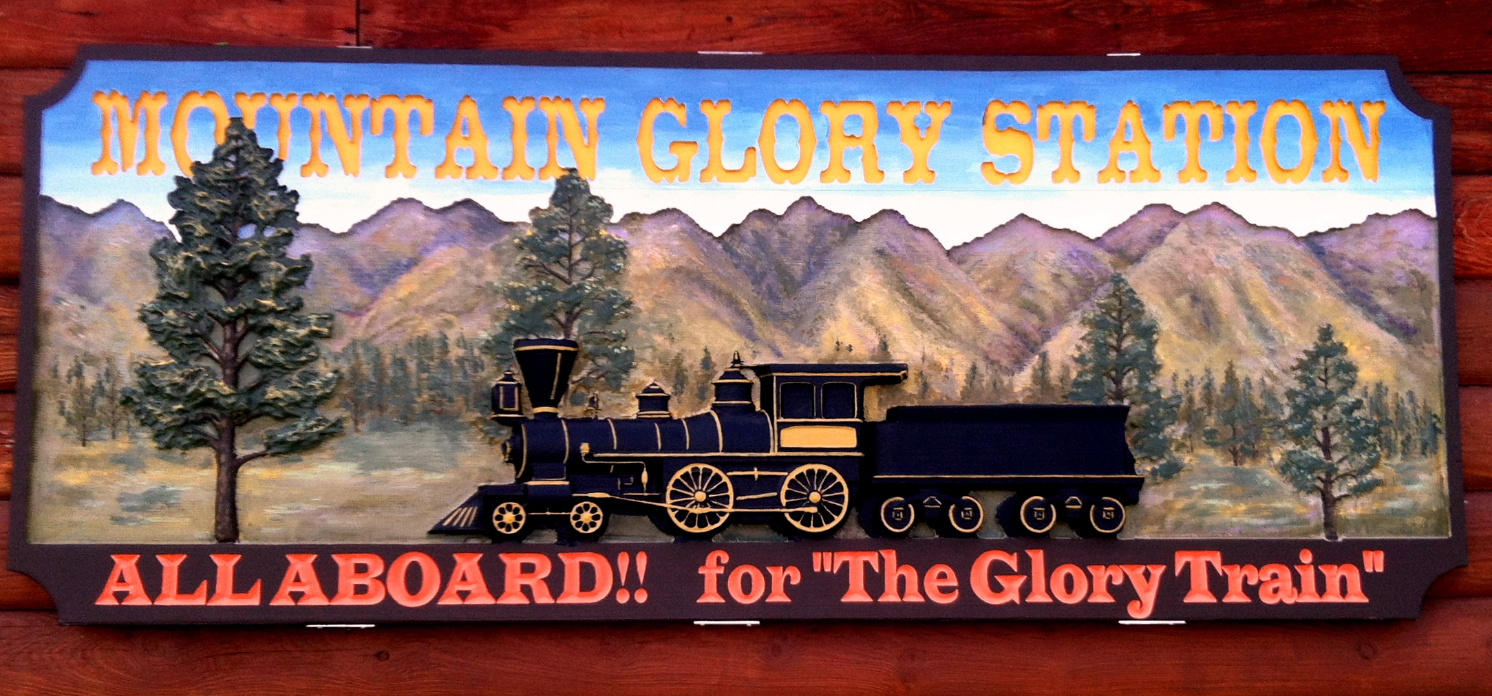 mountain glory station sign